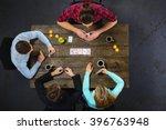 top view creative photo of... | Shutterstock . vector #396763948