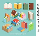 book isometric flat icons set.... | Shutterstock .eps vector #396769510