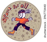 sport for all. hare is... | Shutterstock .eps vector #396773440