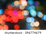 blur from the lights of cars on ... | Shutterstock . vector #396774679