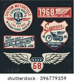 Motorcycle Typography Set  T...