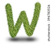 w uppercase alphabet made of...
