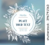 vector background sketch herbs. ... | Shutterstock .eps vector #396791563