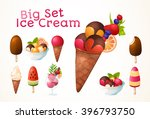 a large set of ice cream.... | Shutterstock .eps vector #396793750