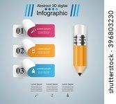 abstract 3d digital... | Shutterstock .eps vector #396803230