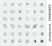 weather icons set line art