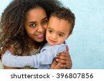 little 18 month old african boy ... | Shutterstock . vector #396807856