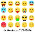 emoticons modern biggest set.... | Shutterstock .eps vector #396809824