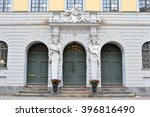 Three Wooden Doors With Ornate...