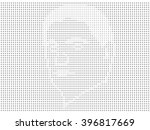 man's face painted with the... | Shutterstock .eps vector #396817669