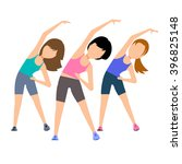 aerobics. train create a... | Shutterstock .eps vector #396825148