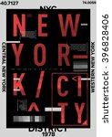 nyc   new york district   stock ... | Shutterstock .eps vector #396828406