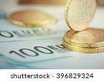euro money  closeup of... | Shutterstock . vector #396829324