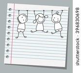 notebook paper happy kids... | Shutterstock .eps vector #396830698