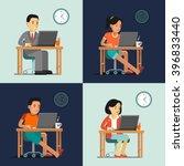 computer internet work concept... | Shutterstock .eps vector #396833440