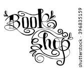 signboard bookstore. hand drawn ... | Shutterstock .eps vector #396835159