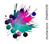 expressive watercolor splash... | Shutterstock .eps vector #396840100