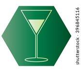 martini glass | Shutterstock .eps vector #396845116