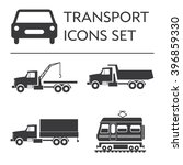 large icons vehicle and... | Shutterstock .eps vector #396859330