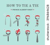 instructions on how to tie a... | Shutterstock .eps vector #396864628