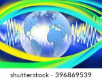 abstract image of the globe... | Shutterstock . vector #396869539