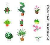 plants indoor room houseplants... | Shutterstock .eps vector #396870436