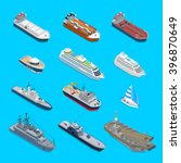 isometric 12 ship detailed web... | Shutterstock .eps vector #396870649