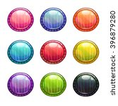 colorful round buttons set ...