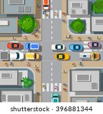 urban crossroads with cars | Shutterstock . vector #396881344