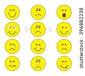 emoji icons set. | Shutterstock .eps vector #396882238