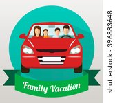 family trip by car. vector... | Shutterstock .eps vector #396883648