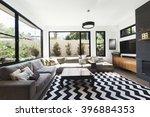 black and white scheme living... | Shutterstock . vector #396884353