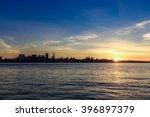 san francisco skyline at sunset ... | Shutterstock . vector #396897379