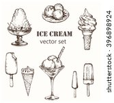 ice cream set. elements for the ... | Shutterstock .eps vector #396898924