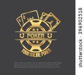 poker  casino logo. gold on... | Shutterstock .eps vector #396902518