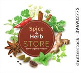 spice and herb store background.... | Shutterstock .eps vector #396902773