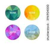 set of colorful round logos.... | Shutterstock .eps vector #396904000