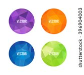 set of colorful round logos.... | Shutterstock .eps vector #396904003