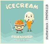 vintage ice cream poster design ... | Shutterstock .eps vector #396906118