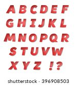 vector red sports paper font.... | Shutterstock .eps vector #396908503