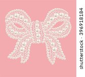 cute bow with pearls and... | Shutterstock .eps vector #396918184