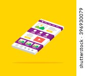 landing page 3d layout vector...