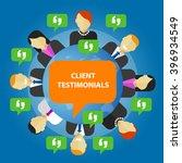 client testimonials consumer... | Shutterstock .eps vector #396934549