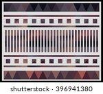 low polygon triangle pattern...   Shutterstock . vector #396941380