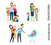 family and kids. cartoon vector ... | Shutterstock .eps vector #396941884