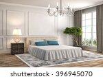 bedroom interior. 3d... | Shutterstock . vector #396945070