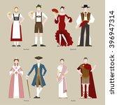 folk dress germany spain france ... | Shutterstock .eps vector #396947314