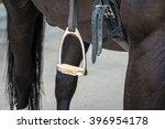 Stirrup On Thoroughbred Horse