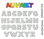 hand drawn alphabet. cartoon... | Shutterstock .eps vector #396965734