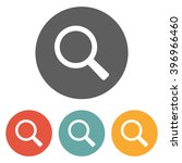 magnifying glass icon | Shutterstock .eps vector #396966460